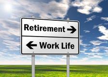 Traffic Sign Retirement Stock Image