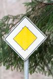 Traffic sign right of way Royalty Free Stock Images