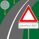 Traffic sign and road Stock Photography