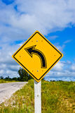 Traffic sign on a road Royalty Free Stock Photo