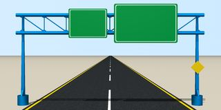 Traffic Sign on the Road. 3d rendered image of Traffic Sign on the Road Stock Image