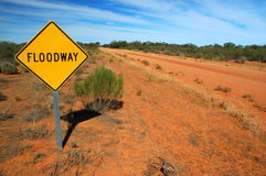 Traffic Sign on a Rural Road. Floodway Road Traffic Sign on a Rural Road royalty free stock image