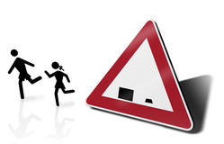 Traffic sign school Stock Photos