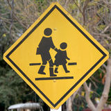 Traffic sign School warning sign Stock Photos