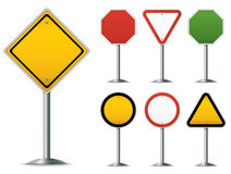 Traffic Sign Set Royalty Free Stock Photos