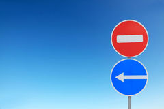 Traffic sign set Royalty Free Stock Photography