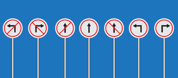 Traffic sign set vector Stock Photography
