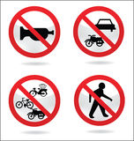 Traffic sign of silent Royalty Free Stock Photos
