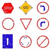 Traffic sign stamp Stock Photo
