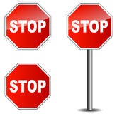 Traffic sign stop Stock Image