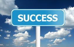 Traffic sign - success Stock Image