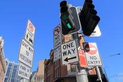 Traffic sign Sydney Australia Royalty Free Stock Photography