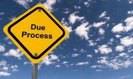 Due process sign stock photos