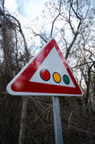 Traffic sign for traffic lights Stock Photo