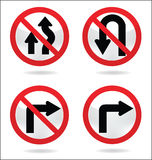 Traffic sign of turn stock illustration