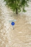 Traffic Sign under Water Royalty Free Stock Photography
