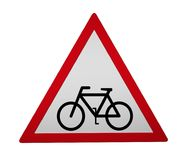 Traffic sign: wheel traffic Stock Photography