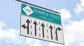 Traffic sign whit blank word Stock Photo