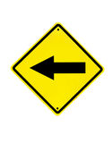 Traffic sign on a white Stock Images