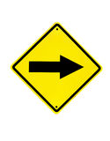 Traffic sign on a white Royalty Free Stock Photo