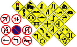 Traffic sign on white Royalty Free Stock Photo
