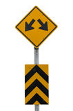 TRAFFIC sign yellow,Two way Royalty Free Stock Images