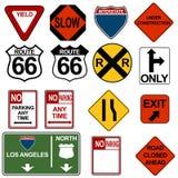 Traffic Signage Set royalty free illustration