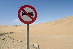 Traffic signal. On desert road Royalty Free Stock Image