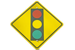 Traffic signal ahead Royalty Free Stock Photos