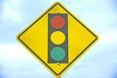 Traffic signal ahead Royalty Free Stock Photography