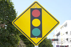 Traffic signal ahead Royalty Free Stock Photo