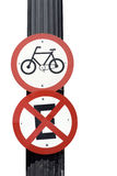 Traffic signal board bicycles Royalty Free Stock Photography