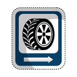 traffic signal car tire location Royalty Free Stock Image