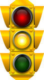 Traffic signal CAUTION. Raster graphic depicting a traffic light (CAUTION Stock Photos