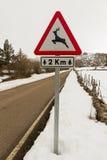 Traffic Signal Danger Wild Animals Royalty Free Stock Photos
