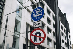 Traffic signal in Manchester Stock Photography