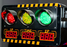 Traffic Signal. A Picture of A Traffic Signal From an Arcade Game Royalty Free Stock Image