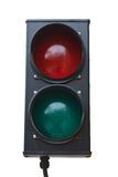 Traffic signal. Red and green traffic signal on isolution royalty free stock photography