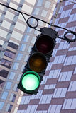 Traffic signal showing green light Royalty Free Stock Photography