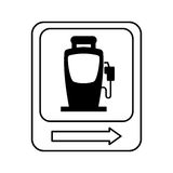 Traffic signal station service location. Illustration design Royalty Free Stock Image