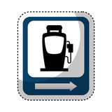 Traffic signal station service location. Illustration design Royalty Free Stock Images