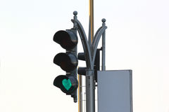 Traffic signal in UAE. Traffic lights ,green heart signal symbolize happiness ,protection,roadsign,isolated light Stock Photography