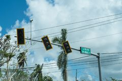 Traffic signals on Puerto Rico Royalty Free Stock Image