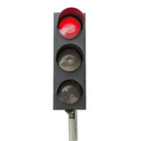 Traffic signals red isolated Stock Image
