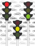 Traffic signals on traffic Stock Images