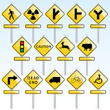 Traffic Signs. Vector collection of traffic signs Stock Photo