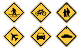 Traffic signs. Royalty Free Stock Photography