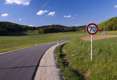 Traffic signs. In Germany on the road Royalty Free Stock Image