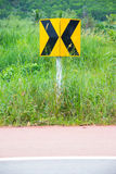 Traffic signs. On grass field Stock Photo