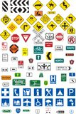 Traffic signs Royalty Free Stock Images